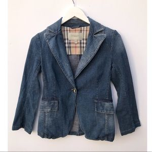 Burberry fitted denim jacket